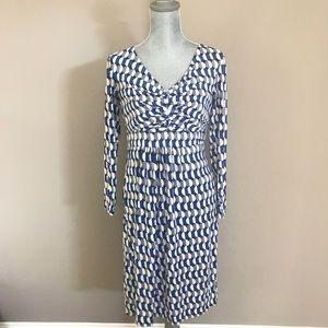 Boden geometric jersey dress